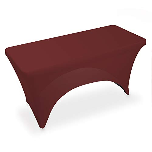 Lann's Linens - 4' Fitted Stretch Tablecloth for 48