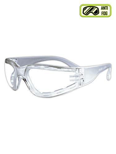 MAGID Y10FMAFC Foam Gasket ANSI z87 Anti Fog Safety Glasses, Clear with Frosted Temples (1 Pair)