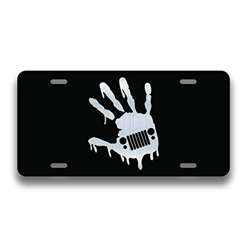 Decals, Home Decor, & More Wave Zombie Vanity License Plate | Etched Aluminum | 6-Inches by 12-Inches | Car Truck RV Trailer Wall Shop Man Cave | VLP025