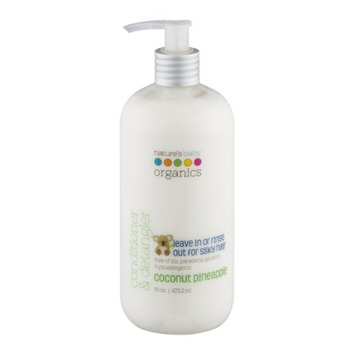 Nature's Baby Organics Conditioner & Detangler, Coconut Pineapple, 16 oz.