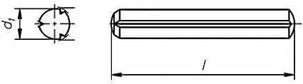 Reidl Zylinderkerbstifte 6 x 30 mm DIN 1473 Stahl blank 10 St/ück
