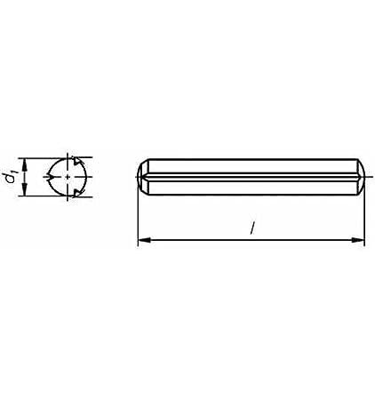 Reidl Zylinderkerbstifte 4 x 50 mm DIN 1473 Stahl blank 100 Stü ck