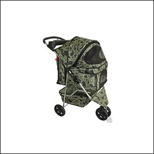 Classic Camouflage 3 Wheel Pet Stroller