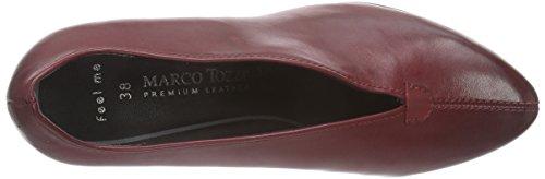 Marco Tozzi Premio 22414 - zapatos de tacón cerrados de cuero mujer rojo - Rot (Vino Antic 505)