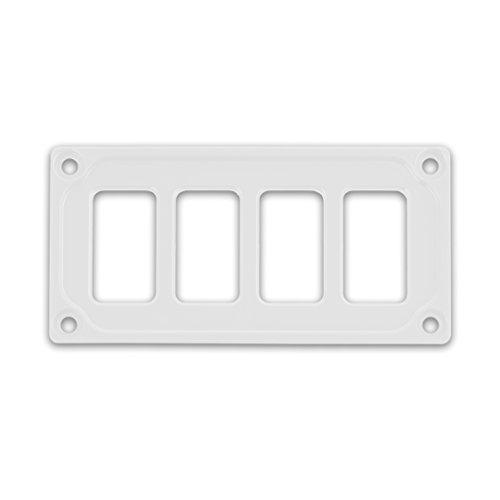 STV MOTORSPORTS Universal Switch Dash Panel Custom CNC Billet Aluminum 4 Rocker Switch Slots (Cnc Motorsports)