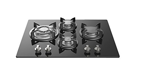 "Empava 24"" Tempered Glass 4 Italy Imported Sabaf Burners Stove Tops Gas Cooktop EMPV-24GC4L67A from Empava"