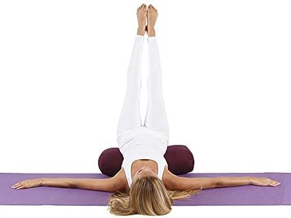 Chin Mudra Oval 100% algodón orgánico Yoga reforzar 60 cm x 30 cm