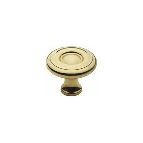 Brass Colonial Knob (Baldwin 4660.030.BIN Colonial Style 1-1/2-Inch Diameter Cabinet Knob, Polished Brass - Lacquered)
