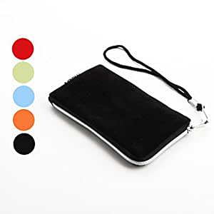 NEW Protective Textile Pouch Case for iPhone 4 and 4S (Assorted Colors) , Orange