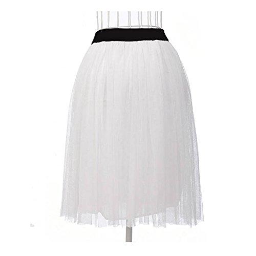 taille Jupe unique Boule LOBZON Blanc Femme txAwYZHq