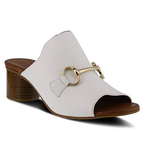 Spring Step Women's Deisyluv Leather Slide Sandal White
