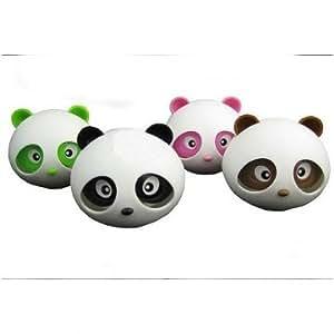 Cute shape Panda head bottle outlet car perfume --- Color:Green
