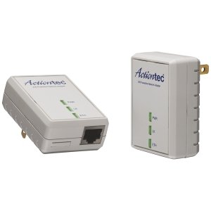 ACTIONTEC 500 Mbps Powerline Ethernet Adapter and 4-Port Hub Kit (PWR514K01)