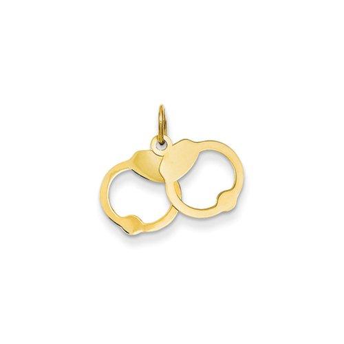 14k Yellow Gold Handcuffs Char