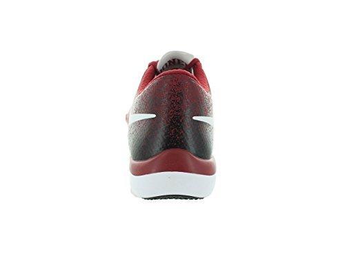... Nike Menns Free Trainer 5.0 V6 Amp Laget Rød / Hvit Ankelhøye Syntetisk  Tennis Sko ...