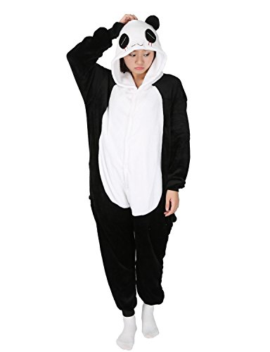 Panda Pajamas Onesie Halloween Kigurumi Adult Cosplay Costume Unisex - LATH.PIN (XL (Fits 181-187cm), Panda)