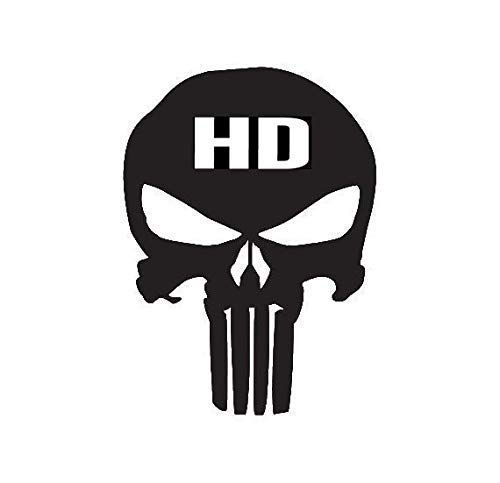 - Punisher Skull Harley Decal (Choose Size and Color) 142