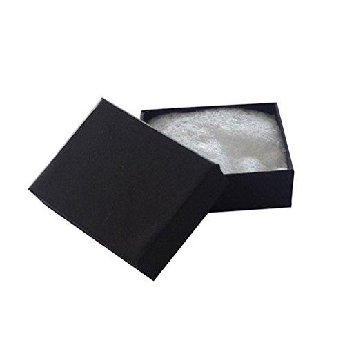 JPI DISPLAY #11 Matte Cotton Filled Paper Jewelry Boxes, Black, 100 Count 100 Black Cotton Filled Jewelry