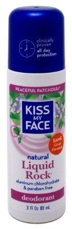 Kiss My Face Deodorants Peaceful Patchouli Liquid Rock Roll-Ons, Paraben Free 3 fl. oz. (a)