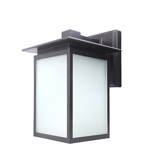 CORAMDEO Outdoor LED Wall Lantern, Wall Sconce as Porch Light Fixture, 12.5W, 1250 Lumen, Water-Proof, Aluminum Housing Plus Glass, ETL and Energy Star Rated