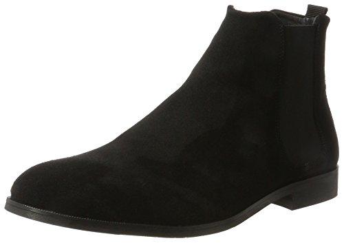 Royal RepubliQ Herren Cast Chelsea Suede Classic Boots Schwarz (Black)