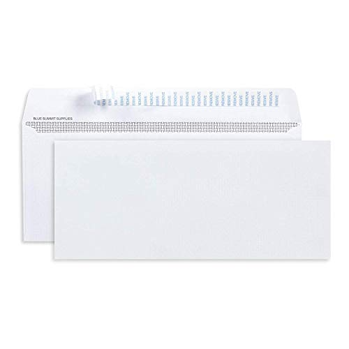 500 No. 10 Self Seal Security Envelopes – 10 Envelopes Self Seal Designed for Secure Mailing – Security Tinted with Printer Friendly Design – Number 10 Size 4 1/8 x 9 ½ Inch – Pack of 500