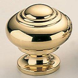 Omnia 9102/40 Classic & Modern 1-9/16 Inch Diameter Mushroom Cabinet Knob, Polished Brass