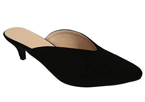 Best Small Foot Vintage Casual Dressy Kitten Heel Pump Shoe for Sale Women Big Girls (Black Size 5) ()