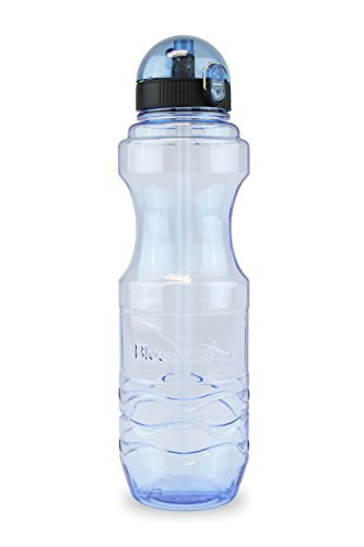 Bluewave Bullet Water Bottle with Straw 1000 ML 34 oz Blue