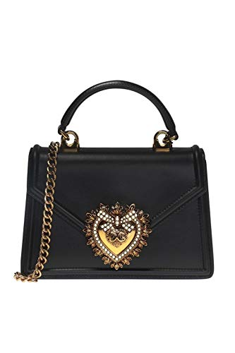 Dolce E Gabbana Women's Bb6711av89380999 Black Leather Handbag