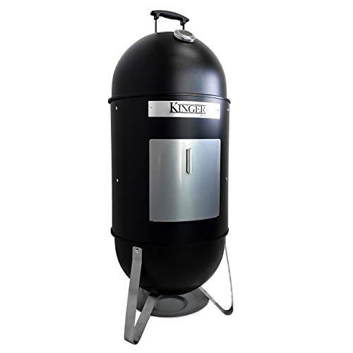 (Kinger Home 18 Inch Vertical BBQ Smoker Wood Charcoal Pellets)