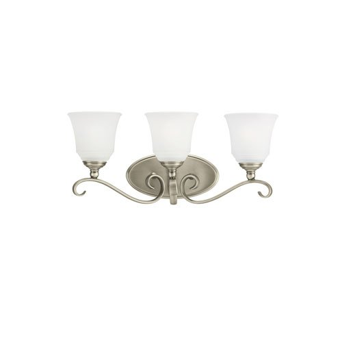 Sea Gull Lighting Parkview Antique Brushed Nickel Energy Star Three-Light LED Bath Vanity (965 Parkview 3 Light)