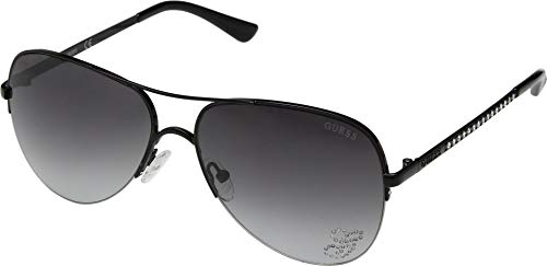 GUESS Women's GF6058 Shiny Black/Smoke Gradient Lens One Size