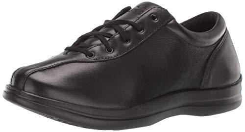 (Apex Women's Liv Leather Lace-Up Black Shoe, Black, 8.5 W US)