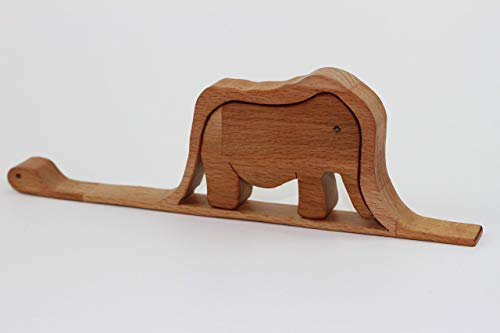 a Constrictor Digesting an Elephant - Wooden Gift Puzzle ()