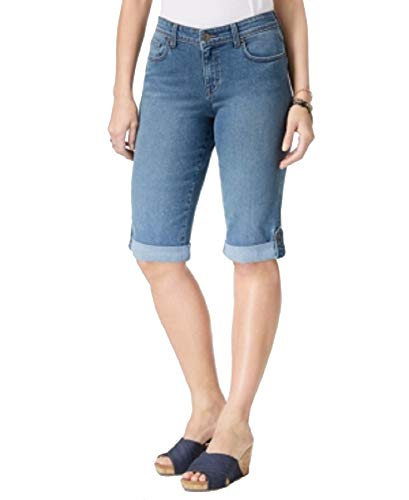 - Style&Co Cuffed Denim Skimmer Shorts (Light Bl Camino, 6)