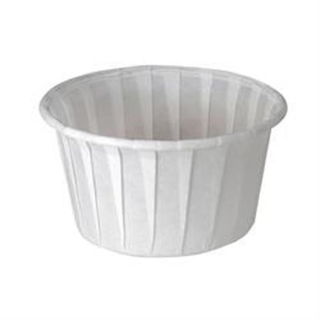 SOLO Cup Company Treated Paper Soufflé Portion Cups, 4 oz., White, 250/Bag - 20 sleeves of 250 cups. 5000 per case.