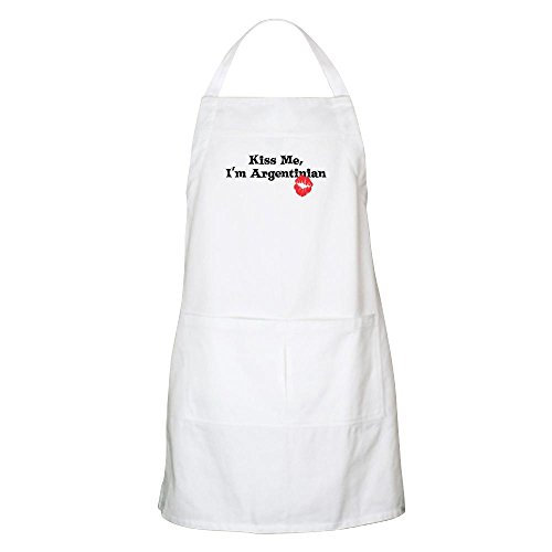 CafePress - Kiss Me, I'm Argentinian BBQ Apron - Kitchen Apron with Pockets, Grilling Apron, Baking Apron