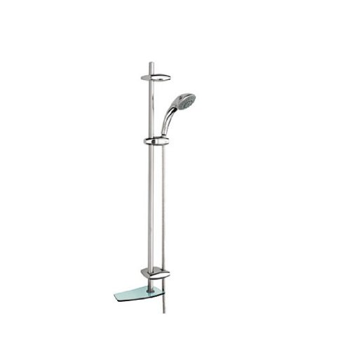 Movario Handheld Showerhead - Grohe 28 574 AR0 Movario 5 Shower System, Infinity Satin Nickel and Polished Brass