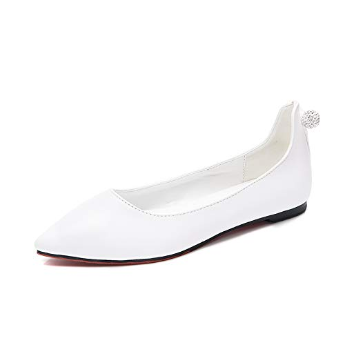 sexy comfortable ladies shallow shoes work Pointed FLYRCX shoes flat single shoes mouth EU 40 fashion wW58CWq1