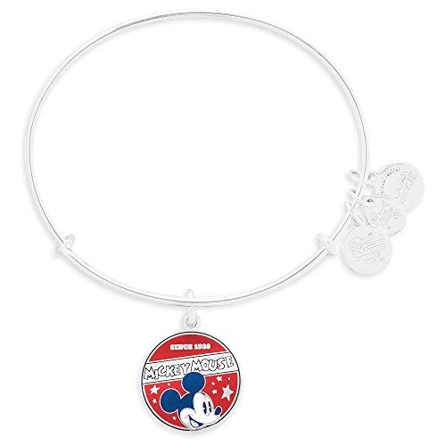 - Disney Parks Alex and Ani Mickey Mouse 'Since 1928' Banner Bangle Bracelet (Silver)
