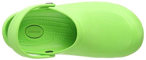 ToffelnEziklog - Zuecos de trabajo, Unisex, Adulto Verde - Green (Lime Green)