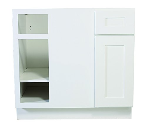 Design House 561522 Brookings 36-Inch Blind Base Cabinet, White Shaker