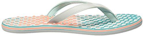 adidas Eezay Dots W, Chanclas para Mujer Gris / Rosa (Grpulg / Vertra / Brisol)