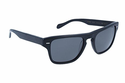 Oliver Peoples 5282 1465K8 Black Semi Matte Strathmore Wayfarer Sunglasses - Sunglasses Pola