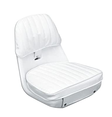 "Moeller Heavy Duty Economy Boat Helm Seat, Cushion, and Mounting Plate Set (17.5"" x 15.625"" x 16.25"", White)"