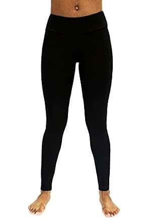 Vicinity Women's Leggings - Ponte Pants with Diagonal Seaming Details - Black XL
