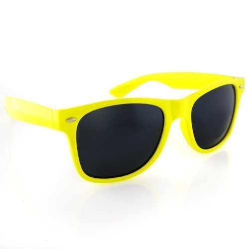 Classic Wayfarers - Yellow Frame/ Black - Sunglasses Mj Price Sport
