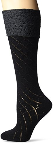 Gold Toe Wool Socks - Gold Toe Women's Sabrina Knee High 1 Pack, Black, 6-9