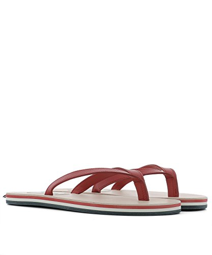 MFL014A00003600 Men's Red Flip Leather Thom Flops Browne pvqfExwEgz